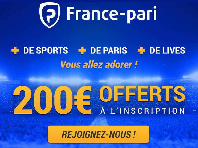 Le site de France pour tous vos paris sportifs avec déjà des gros bonus gratuits en argent réel.
