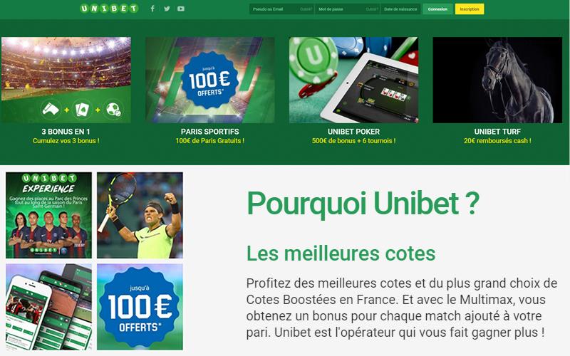 La plateforme de pari sportif en ligne - Des paris en direct et des pronostics tous les jours de la part des experts Unibet!