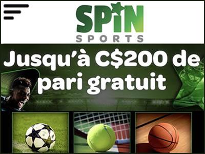 Parier en ligne avec Spin Sports