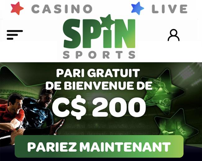 Le site de paris sportifs Spin Sports, du groupe Betway, est une platforme de jeux haut de gamme